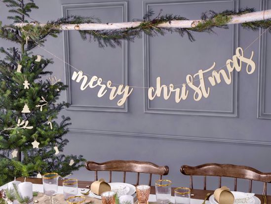 Picture of Merry Christmas Bunting Garland Wooden