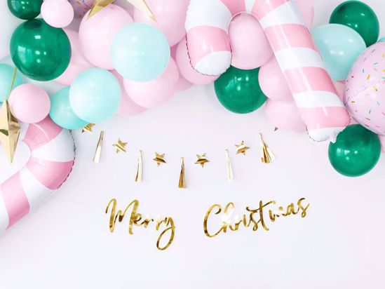Picture of Merry Christmas Gold Banner Garland