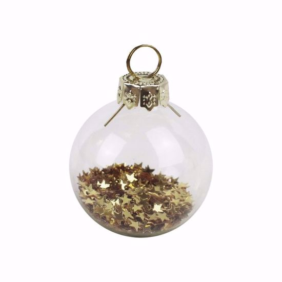 Picture of Bauble Glass Card Place Holder Christmas