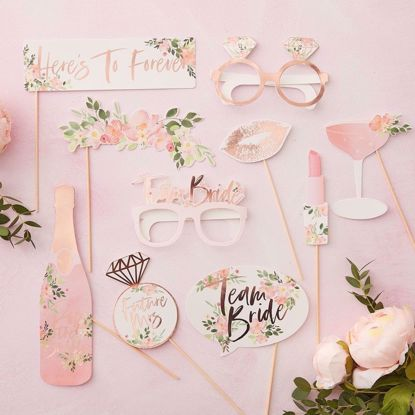 Picture of PHOTO BOOTH PROPS - FLORAL HEN PARTY