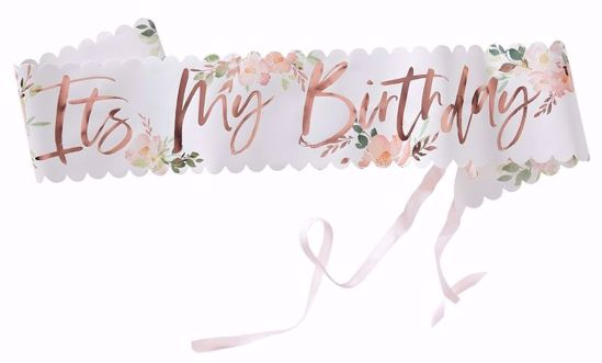 Picture of IT'S MY BIRTHDAY FLORAL SASH - DITSY FLORAL
