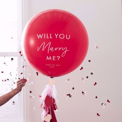 "Picture of 'Will You Marry Me' 36"" Balloon Kit"