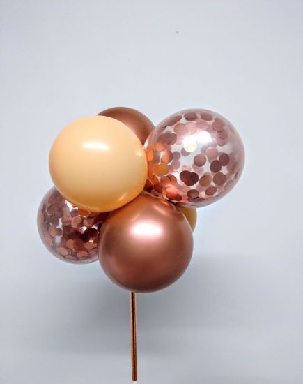 Picture of Rose Gold Chrome Balloon Cake Topper