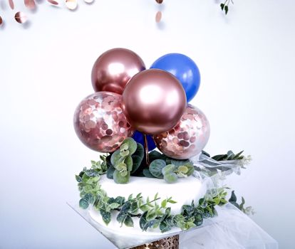 Picture of BALLOON CAKE TOPPER MINI GARLAND ROSE GOLD CHROME