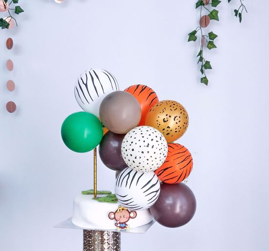 Picture of ANIMAL PRINT BALLOON CAKE TOPPER MINI GARLAND