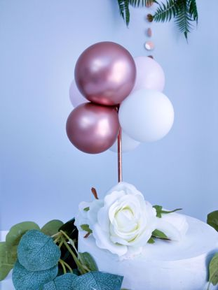 Picture of BALLOON CAKE TOPPER  ROSE GOLD BIRTHDAY