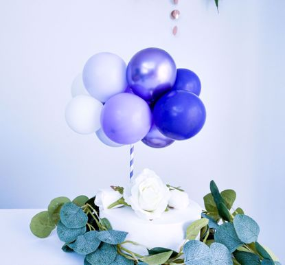 Picture of BALLOON CAKE TOPPER  PURPLE OMBRE BIRTHDAY