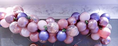Picture of Rose Gold Balloon Garland Pink Arch Confetti Purple Chrome
