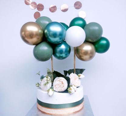 Picture of Cake Topper Balloon Garland Eucalyptus Green