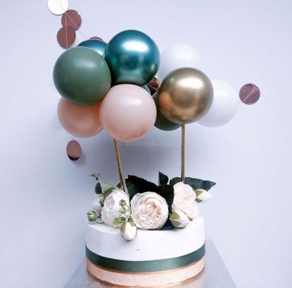 Picture of Balloon Cake Topper Eucalyptus Gold Chrome Blush