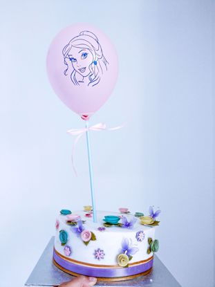 Picture of PRINCESS PINK BALLOON CAKE TOPPER