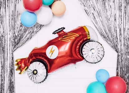Picture of Car Foil Balloon Formula Race Birthday Boy